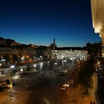 View from our balcony (305 - Zen) at night looking towards Rossio Square