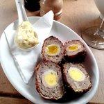 Wild boar scotch eggs