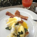Eggs benedict - made to order.