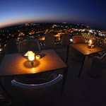 candle light with beautiful view