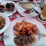 Rumsteak mit Bratkartoffeln und Ital. Gorgonzolasauce