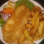 Amazing fish & chips served every Friday till 7.00 p.m., fish is fresh from D R Collin in Eyemou