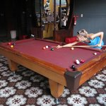 Playing a little game of pool