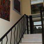 les escaliers de l'hôtel
