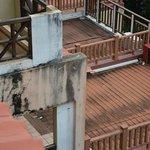 herunter gekommene Balkone