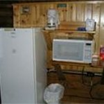 """""""kitchenette area"""" of one of the Cozy Cabins"""