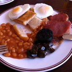 retro tasty breakfast plated what was available under hot plate