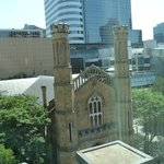 view by the elevator of Trinity Church