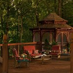 The gazebo is perfect for small weddings or relaxing