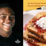 All you can eat french toast 6:30-10:00 a.m.