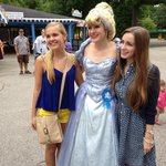 Cinderella poses with park visitors