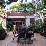 Interior open air courtyard