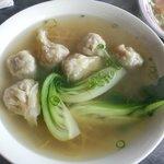 Plain wonton noodle soup