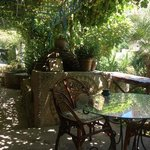 with a bread bakery and fruit stand 2 min walk from the hotel, breakfast looking out to the hote
