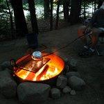 Jiffy Pop on fire pit