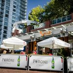 Sciué Yaletown and its European inspired Peroni Patio