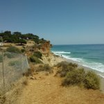 cliffpath to the beach at back of the hotel