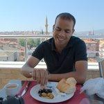 breakfast in the big terrace
