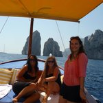 me and my daughters on the boat