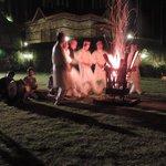 Folk dance and bonfire