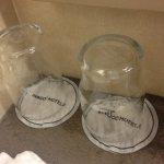Glasses in bathroom