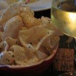 Chardonnay and Pork Rind Chips
