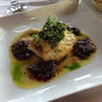 Pan seared halibut
