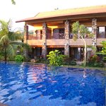 Sunset House and pool
