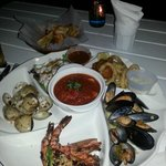Seafood platter for two was very tasty