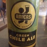 they serve Amicas green chili ale!