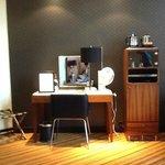 Desk and minibar
