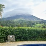 Volcano view from the pool