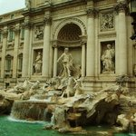 Trevi Fountain was 20 minutes away