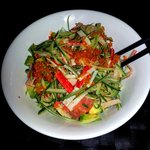 Spicy Crab Salad.  Simply refreshingly divine and uplifting.