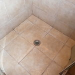 Shower floor upon arrival