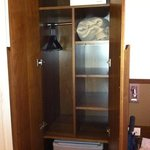 wardrobe with safe and fridge