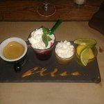le mix de fruits rouges a la menthe , le caramel beurre sale , tout est bon dans le cafe gourman