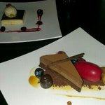 baked custard & chocolate cake