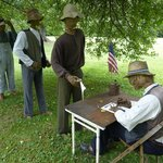 African Americans signing up for the Civil War