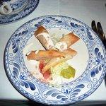 Mariachi - Golden chicken tacos appetizer