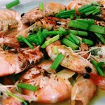 Prawns in butter and garlic