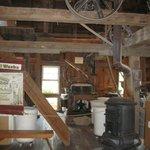 Inside the Working Water-Wheel Mill Shop