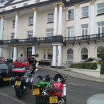 No off street motorcycl parking? At a 4 Star?