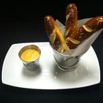 PRETZEL STICKS AND BEER CHEESE