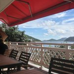View from dining area on veranda