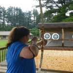 Outdoor archery range tested by Gayle
