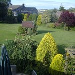 View from bedroom window across garden