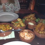 Our selection of tapas dishes