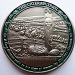 Cateran Trail GeoTour antique silver Geocoin