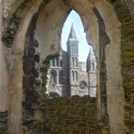St David's Cathedral from ruins of Bishops House
